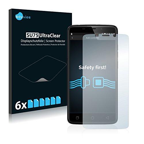 Savvies 6X Schutzfolie kompatibel mit Ulefone Vienna Bildschirmschutz-Folie Ultra-transparent