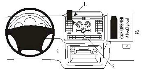 Brodit ProClip 853569 Kit de Coche Montaje Central