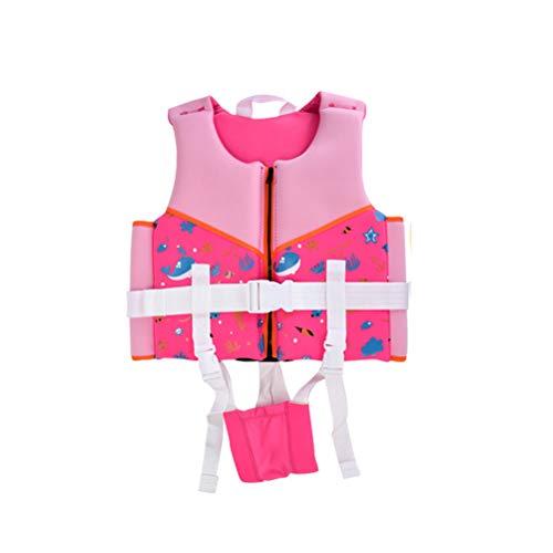 Dowoa Chaleco Salvavidas para niños Chaqueta de natación Chaleco Salvavidas Ajustable Deportes acuáticos Surf en la Playa Entrenamiento de natación Ayuda para niños niñas niños pequeños