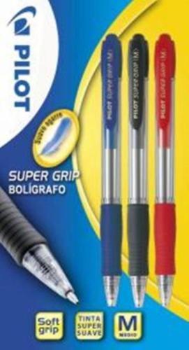 Pilot Supergrip – Blíster de bolígrafos, 3 unidades