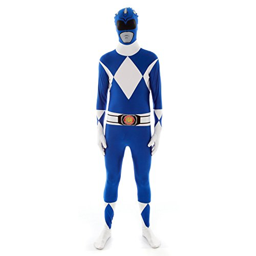 Morphsuits - Costume per Travestimento da Power Rangers, Adulto, Taglia: M, Colore: Blu