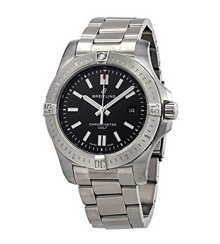 Breitling Chronomat Colt Automatic 44 Black Dial Men's Watch (Ref: A17388101B1A1)