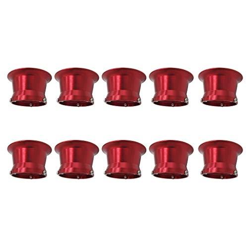 Homyl Coupe d'Interface de Filtre à Air de 50mm 10pcs Rouge