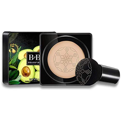 Poapo BB Cream, Mushroom Head Air Cushion, BB Cream Base de Alta Cobertura, Corrector de Larga duración, Maquillaje Nude Duradero