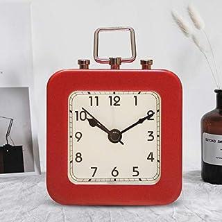ZREED Despertador Alarma Creativo Digital Multifuncional Reloj nórdico Minimalista Plaza del Reloj Silencio manija de Metal Reloj Despertador para casa (Color : C)