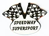 Speedway Spilla Speedway Lang Ferroviario Erba Bahn Motivo bandiera