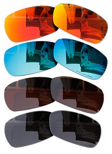 BVANQ 4 Pares de Lentes polarizadas Repuesto A1 para Gafas de Sol Oakley Crosshair 2.0 (OO4044)