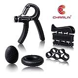 Chairlin Verstellbarer Handtrainer Hand Grip Trainingsgerät Fingertrainer Handmuskeltrainer Set,...