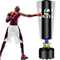 👊 【ADULT FREE STANDING KICKBOXING BAG】 Works on any even floors at home, office and gym room. takes up a little space of 10 sq ft , easy to put together and shifted it around , Stands approx 69''/175cm tall. Suitable for karate, jujitsu, ninjitsu ect...