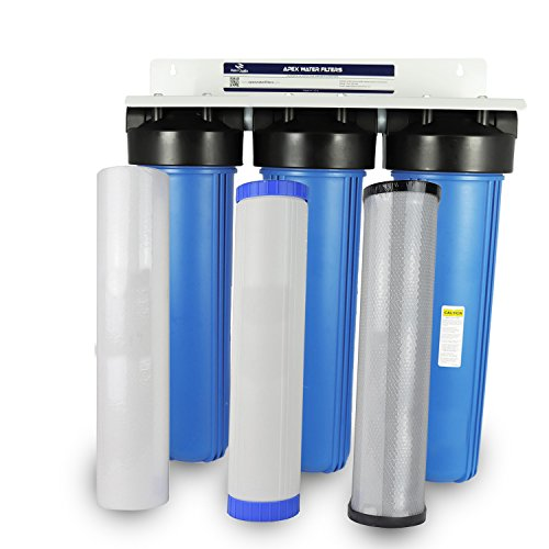 Apex Whole House Water Filtration System w/GAC and Activated Alumina - Removes Fluoride, Chlorine, Chloramines, Arsenic & Sediment