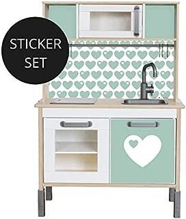 Limmaland Sticker byGraziela für IKEA DUKTIG Mint - Kinderküche Nicht inklusive