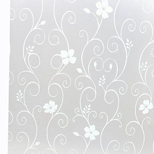 WINOMO 3D vinilo Película Adhesiva Decorativa del Vidrio de Ventana para Cristal de Ventanal de Baño Cocina Oficina Control de Calor y Anti UV 45 x 100cm