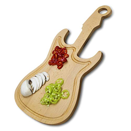 Guitar Cutting Board, Wooden Cutting Boards for Kitchen, Cool Gift for Musicians, Home Decor for Guitar Lovers
