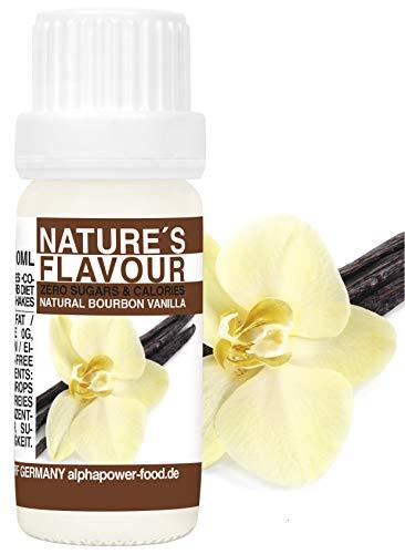 ALPHAPOWER FOOD aroma alimentare - vaniglia bourbon naturale, 1x10ml gocce - liquido Flavdrops - Flavour Drops