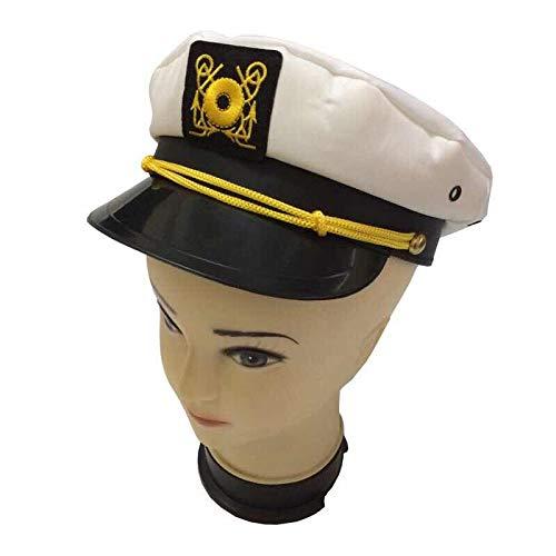 Capitani Cappello Uomo Donna Nero Bianco - Costume per adulti e bambini - Perfetto per carnevale - Taglia unica (C)