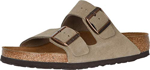 Birkenstock Arizona - Suede (Unisex) Taupe Suede 38 (US Men's 5-5.5, US Women's 7-7.5) Narrow
