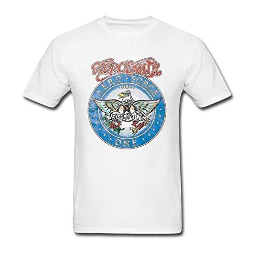 AWonder Hombre Casual Summer Eagle Printing Tees Blanco Ocio Hot Young Aerosmith Aero Force Camisetas de algodón