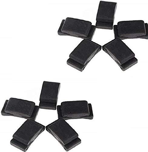 GOSONO 10pcs Black Rubber Guitar Pick Holder Fix on Headstock for Guitar Bass Ukulele