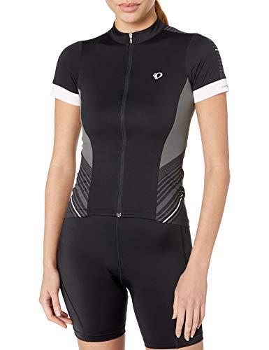 PEARL IZUMI Women's Ride Elite Pursuit Short Sleeve Jersey, Black Stripe, Medium