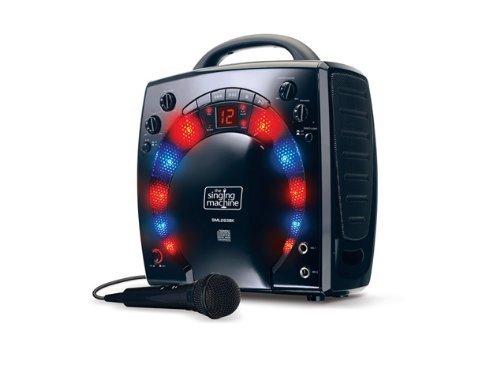 Singing Machine SML283BLK Portable Plug-n-Play Karaoke CDG-speler met extra bonus CD's zwart zwart