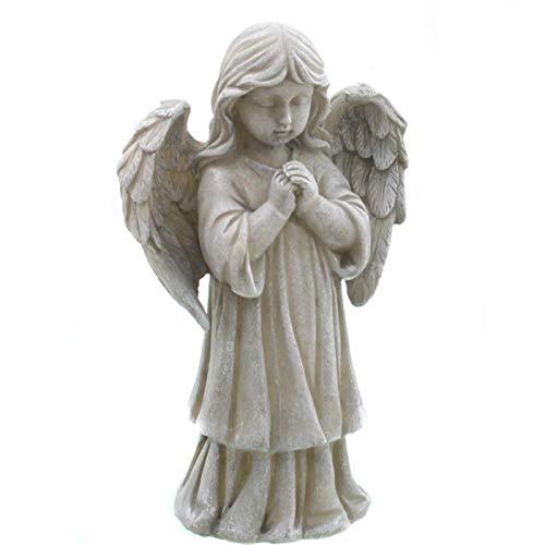Engel für draußen, betender Trauerengel mit Kleidchen. Höhe 24 cm.