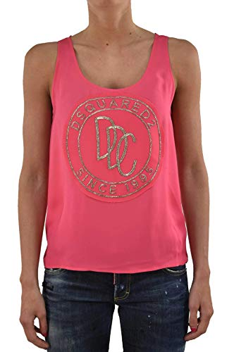 Dsquared2 Dames Top Coccarda - Kleur: roze - Maat: 38/40/42 - Made in Italy