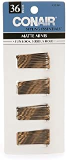 Conair Styling Essentials Mini Pins, Brown 36Ct. (Pack Of 3)