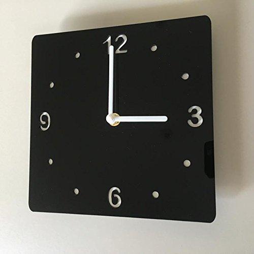 Servewell - Orologio quadrato, colore: Nero