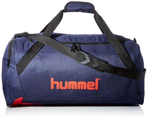 hummel Unisex-Adult hmlACTION Sports Bag, Dark Sapphire/Fiesta, M
