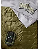 HiHiker Double Sleeping Bag Queen Size XL -for Camping, Hiking Backpacking and...