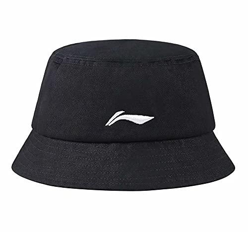 LI-NING Men Women Sports Cap Fisherman hat Sun Hat Classic Hat AMYQ454-Black