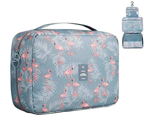 Travel Toiletry Bag, Vakki Hanging Toiletry Bag Wash Bag Waterproof Toiletries Bag Cosmetic Organizer Bag Portable Toiletry Bag for Women and Girls