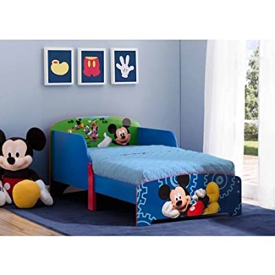 "Disney Mickey Mouse Wood Toddler Bed, 30""W x 53.5""D x 25""H"
