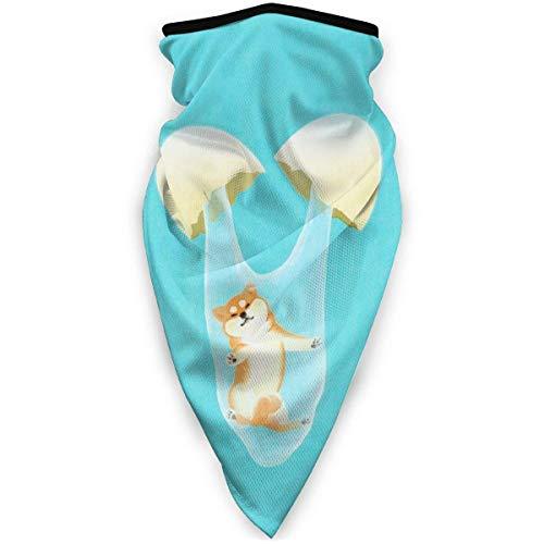 Not Applicable Headwear Face,Shiba in The Egg White Funny Dog Cute Non-Slip for Soccer Bandana Scarf,24x52cm