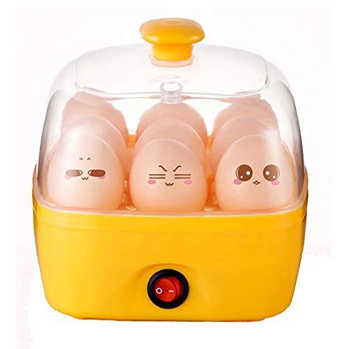 LMFLY Egg Elektrischer Eierkocher Multifunktion Eierkocher Haushalt Einlagige Eierkocher Gekochte Eier Frühstück Maschine Automatische Strom Aus (Color : Yellow)
