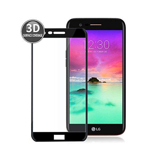 E-Hamii Kompatibel mit LG K10 2018 Panzerglas,[Schutzglas][Panzerglasfolie][Screen Protector],Panzerfolie(Schwarz),3D Premium Gehärtetes Folie für LG K10 2018 Schutzfolie