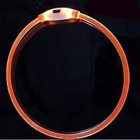 IGUGHI 猫用光る首輪-発光首輪-柔らかい素材-軽量-長さ調節可-小型犬-大型犬-安全対策-視認性抜群-夜間散歩-3モード発光-安全ペット用品 USB充電 65cm オレンジ