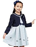 [Amazon限定ブランド] [utremi(ユトレミ)] 入学式 女の子 スーツ 子供服 ローズジャカードリボンモチーフアンサンブル 2101-8311 (ミント, 120cm)