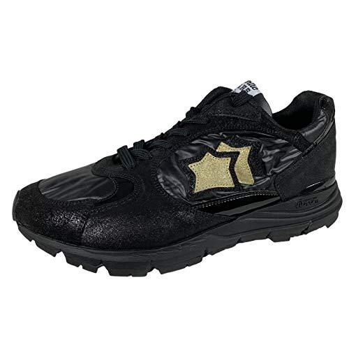 E65 Sneakers Donna Atlantic Star MIRA Black/Gold Shoes Women