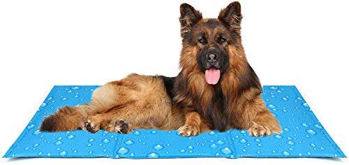 Aoweika Kühlmatte für Hund Katzen, Haustier Eismatte Selbstkühlende Matte Dog Ice Pad Cooling Mat für Kisten, Hundehütten und Betten(65 * 50 cm)