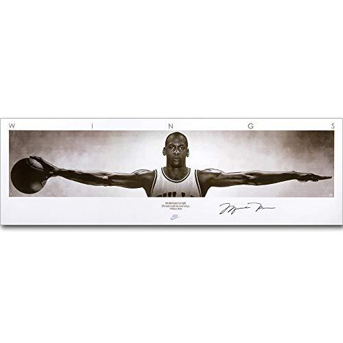 Michael Jordan Wings Pared Arte Pintura Baloncesto póster Lienzo Impreso para decoración de habitación del hogar 50x150cm sin Marco