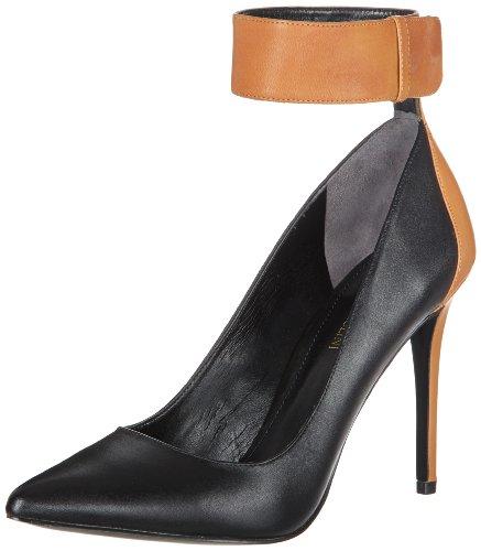 Enzo Angiolini Women's Fastir Dress Pump,Black/Dark Natural Leather,7.5 M US