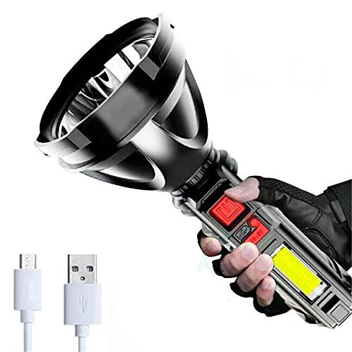 CFPAGF Linterna recargable USB multifuncional al aire libre con luz lateral LED proyector