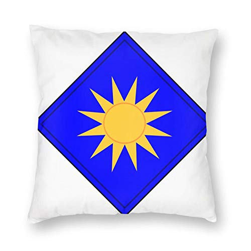 KECRDGJT 80th Infantry Division Blue Ridge Throw Pillow Covers Square Pillowcase Soft Cushion Case for Sofa