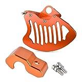 Gzcfesbn Motorcycles Front Freno Disc Sharif Fork Shoe Shoe Guard para KTM 125 150 200 250 300 350 400 450 500 530 SX SX-F exce exc-f XC XC-f XC-w xcf-w Durable (Color : Orange)