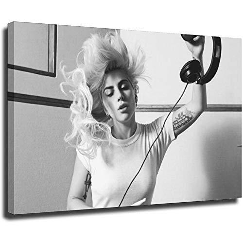 Lady Gaga imprime en lienzo las imágenes del paisaje Óleo para el hogar moderna impresa para la Imagen del hogar 32 × 48 pulgadas (80 × 120 cm) UnFrame