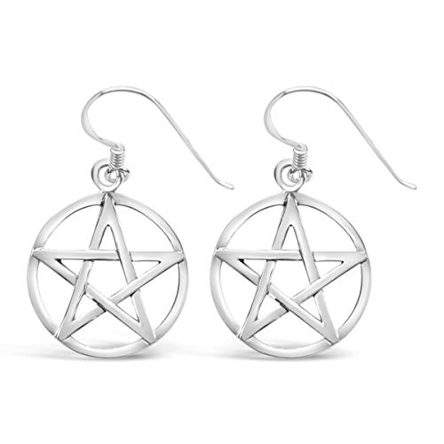 Ashton and Finch Sterling Silver Large Pentagram Earrings | Earrings For Women | Jewellery for Girls and Women | For Birthdays, Weddings And Special Occasions