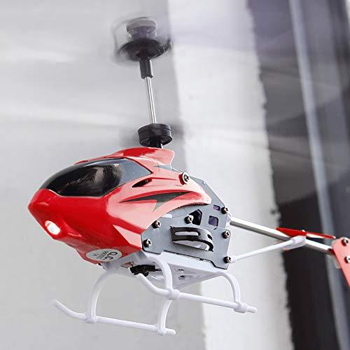 WWSZ Helicóptero RC Juguete de Control Remoto Mini,Juguete de avión de Control Remoto,Helicóptero teledirigido con Mando a Distancia para Interiores y Exteriores para Adultos y niños