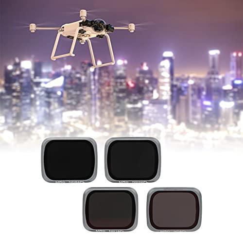 Akozon Filtro Obiettivo ND8PL/ND16PL/ND32PL/ND64PL Set per 4 in 1 Air 2S Obiettivo Drone Fotocamere Impermeabili Kit Filtro Fotografico Drone Accessorio Parte