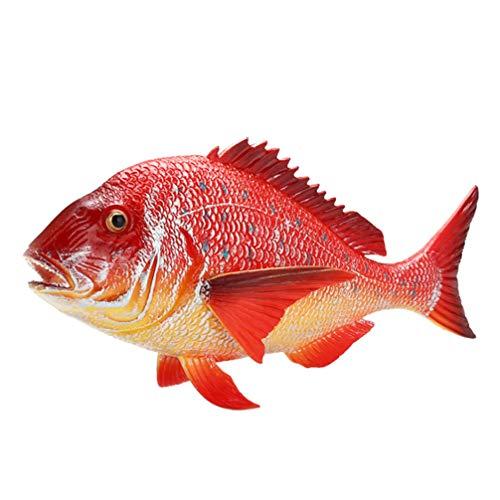 Garneck Aquarium Künstliche Fische Schwimmende Tropische Fische Figur Red Snapper Modell Meerestier Spielzeug Lebensechte Ornament Dekorationen